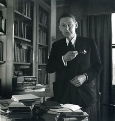 Eliot in his office at Faber & Faber.....