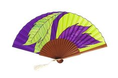Wooden Fan, Large Fan, Silk Painting, Single Piece, Hand Painted, Painted Silk, Special Gifts, Unique Gifts, Artisan
