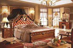 Factory Offer Home Use European Classical High Class Wooden Bedroom Set Queen Bedroom, Bedroom Sets, Bedding Sets, Wooden Bedroom, Cdb, High Class, Bed Design, Interior And Exterior, Furniture