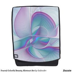 Fractal Colorful Beauty, Abstract Art Backpack
