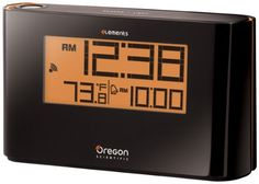 Oregon Scientific EW96 Atomic Projection Clock with Thermometer