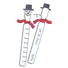 Snow Measuring Stick | Craft | The Mailbox