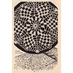 Vintage Crochet Star Medallion Bedspread Pattern is made of 5 inch motifs joined.  This Workbasket Medallion can also be used for tablecloths.