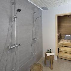 Sadesuihku tuo luksusta kylpyhuoneeseen! #designtalo #sisustus #kylpyhuone Spa Rooms, Saunas, Bathtub, Future, Bathroom, Decoration, House, Standing Bath, Washroom