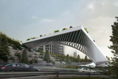 3rd Skin Architects' Haghani Pedestrian Bridge Folds Over Iranian Highway