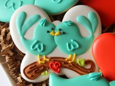 Cookies with  -- butterfly cookie cutter. so cute