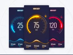 Speedometer designed by Emiliano Rodriguez. Connect with them on Dribbble; Web Design, App Ui Design, Game Interface, User Interface Design, Car App, Dashboard Ui, Mobile Ui Design, Ui Design Inspiration, Ui Web