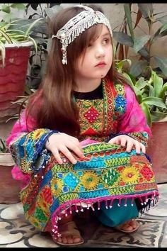 Afghani Clothes, Afghan Girl, Afghan Dresses, Hijabi Girl, Aesthetic Vintage, Western Outfits, Pakistani Dresses, Girl Photography, Beautiful Children