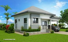 A Bungalow style is one of the most common houses today. Bungalow house offers a cozy, homey fe. Three Bedroom House Plan, House Plans One Story, Small House Plans, Small Bungalow, 3 Bedroom Bungalow, Modern Bungalow House Design, Simple House Design, Bungalow Designs, Beach Cottages