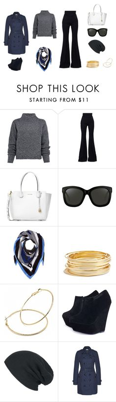 """A bit of blue"" by edith-a-giles ❤ liked on Polyvore featuring Acne Studios, Alexander McQueen, Michael Kors, Linda Farrow, MICHAEL Michael Kors, Argento Vivo, Fantasy Jewelry Box, AX Paris and Burberry"