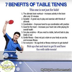 7 Benefits Of Table Tennis fitness tips and quotes playing table tennis, weight loss dream table tennis Table Tennis Game, Tennis Camp, Tennis Rules, Tennis Funny, Tennis Tips, Tennis Gear, Tennis Clothes, Kids Fitness, Fitness Tips