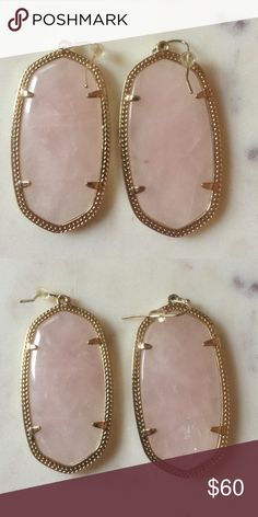 Rose Quartz Danielle's Great condition, comes with dust bag! Kendra Scott Jewelry Earrings