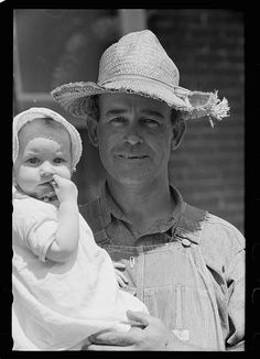 Farmer and child, Scioto Farms, Ohio