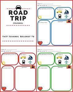 printable road trip journal