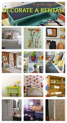 A rental can be beautiful too! Check out these great decor ideas!!