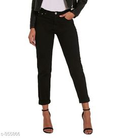 Jeans Stylish Denim Jeans For Women Fabric: Denim  Waist Size:  28 in, 30 in, 32 in, 34 in, 36 in, 38 in, 40 in  Length:  Upto 39 in  Type: Stitched  Description:  It Has 1 Piece Of Jean  Pattern: Solid Sizes Available: 28, 30, 32, 34, 36, 38, 40   Catalog Rating: ★4.1 (369)  Catalog Name: Ladies Slayable Denim Jeans Vol 2 CatalogID_38015 C79-SC1032 Code: 504-355866-