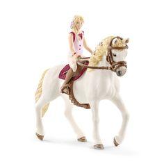 Schleich Horse Club Pferdebox mit Lusitano Stute Reiterhof Pferde Box 19 cm