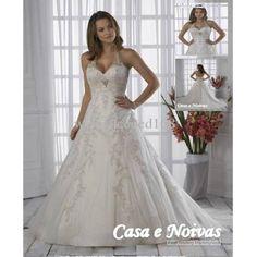 Casa e Noiva - Vestido de Noiva Halter Coleção Elegance Modelo VM 020306