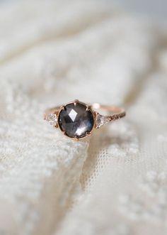 A romantic Montana Sapphire set with Vintage Diamonds...