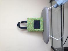 Denim and fabric reversible tote Reversible Tote Bag, Denim, Fabric, Bags, Tejido, Handbags, Tela, Cloths, Fabrics