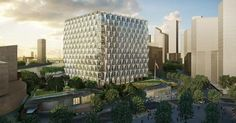 The KieranTimberlake-designed embassy building will open more than half a million square feet of diplomatic office space on the Thames. Security Architecture, Architect Magazine, Square Feet, Skyscraper, Multi Story Building, London, Places, Design, House
