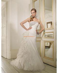 RONALD JOYCE Asymmetrische Designe Brautkleider aus Organza mit Perlenstickerei