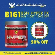 BIG DEAL B1G1 If you buy 1 HYPER FX - 30 servs you get 50% OFF in the second one. Come check out this and other offerings. Save 10% OFF the First Purchase & Unbeatable Prices! #JLBB #JustLikeBodybuilding #Bodybuilding #bodybuildingmotivation #bodybuildinglifestyle #bodybuilding_motivation #bodybuildinglife #bodybuildinginspiration #bodybuildingforlife #supplement #supplements #supplementation #supplementstore #sale #promo #combo #BSN #HYPERFX
