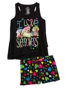 PUPPY PAJAMA SET | GIRLS PAJAMAS & ROBES PJS, BRAS & PANTIES | SHOP JUSTICE