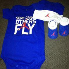 Cute 3 Piece Infant Set Air Jordan Infant Cap 1 Bodysuit 1 Pair Booties   eBay
