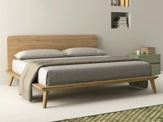 Download the catalogue and request prices of Easy By dall'agnese, oak double bed design Imago Design, letti legno Collection