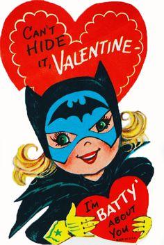 Super Hero Batgirl Is Batty About You Bat Girl Vintage Unused Valentine Card Valentine Images, My Funny Valentine, Vintage Valentine Cards, Vintage Greeting Cards, Vintage Holiday, Valentine Day Cards, Valentine Crafts, Vintage Postcards, Happy Valentines Day
