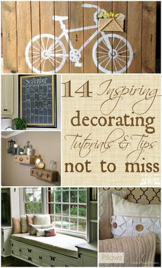 If you are looking for inspiring ways to decorate your home, then you will enjoy this collection of 14 tutorials and tips from bloggers who are eager to share their latest projects with you!