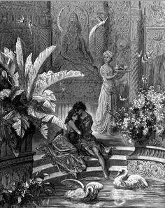 nigra-lux:  DORÉ, Gustave (1832-1883) Illustration for Ludovico Ariosto's Orlando FuriosoengravingEd. Orig. Lic. Ed.