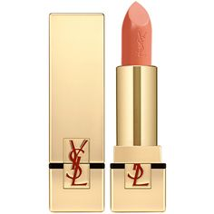 Yves Saint Laurent Beauty Women's Rouge Pur Couture Satin Radiance... ($37) ❤ liked on Polyvore featuring beauty products, makeup, lip makeup, lipstick, peach, moisturizing lipstick, yves saint laurent lipstick and yves saint laurent