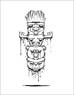 first design, totem