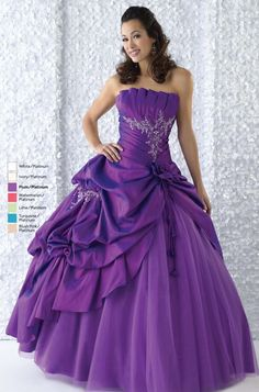 Very Beautiful and Pretty Purple Wedding Dress