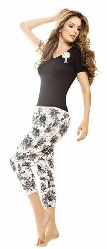4b4cef61c506 Adriana Arango High Quality Black Capri Pant Pajama Set 7479 - XL at Amazon  Women s Clothing store
