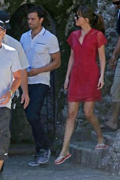 Jamie Dornan and Dakota Johnson Film 'Fifty Shades Freed' at Medieval Castle in France