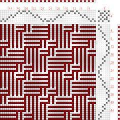 Hand Weaving Draft: Figure 117 (c), A Manual of Weave Construction, Ivo Kastanek, 6S, 6T - Handweaving.net Hand Weaving and Draft Archive