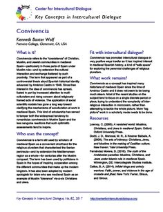 Key Concepts in Intercultural Dialogue #82: Convivencia