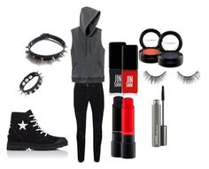 """""""Untitled #81"""" by small-and-cute on Polyvore featuring Topman, RVCA, Jin Soon, WithChic, Apex, Givenchy, MAC Cosmetics, tarte, men's fashion and menswear"""