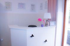 Flamour Boutique desk. Pink flamingo, butterflies, pretty interiors, blush pink & white furniture. Boutique, Blush, Pink, Home Decor, Decoration Home, Room Decor, Rouge, Pink Hair, Home Interior Design