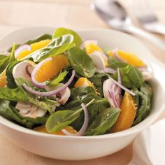 Orange Lime Spinach Salad from Taste of Home