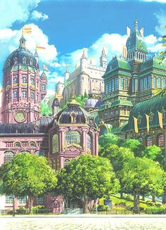 I love how detailed the castle and the buildings surrounding it are