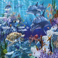 DIY Diamond Painting Kits Underwater World Cross Paintings, Animal Paintings, Floor Puzzle, 5d Diamond Painting, Underwater World, Underwater Fish, Ocean Life, Tropical Fish, Sea Creatures