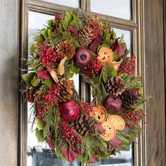 Visions of Sugarplums Wreath Wreaths For Sale, How To Make Wreaths, Holiday Wreaths, Door Wreaths, Christmas Door Decorations, Fall Decorations, Williamsburg Christmas, Country Crafts, Floral Wreath