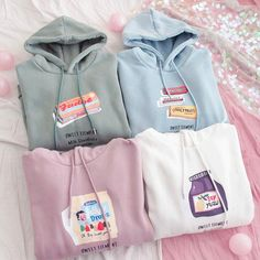 Fashion Girls Hoodie sold by pennycrafts. Cute Comfy Outfits, Lazy Outfits, Teenager Outfits, Trendy Outfits, Aesthetic Shirts, Aesthetic Clothes, Ropa Color Pastel, Cute Fashion, Girl Fashion