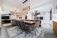 Dining area - cosy textures Dining Area, Cosy, Conference Room, Construction, Table, Projects, Furniture, Design, Home Decor