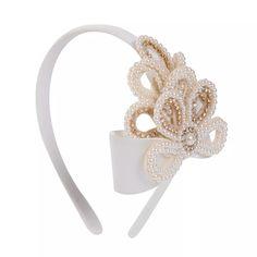 Pearl Headband, Ribbon Hair, Bridal Hair Accessories, How To Make Bows, Flower Making, Hair Pieces, Hair Band, Hair Clips, Headbands