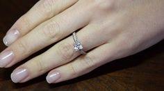 Princess Cut Rings, Princess Cut Diamonds, Ring Engagement, Dublin, Stone, Videos, Beautiful, Jewelry, Estate Engagement Ring